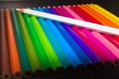 Lápis coloridos madeira imagens de stock