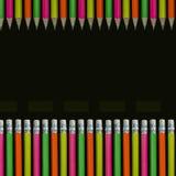 Lápis coloridos néon Foto de Stock Royalty Free