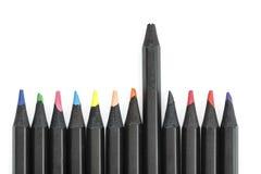 Lápis coloridos no fundo branco Fotografia de Stock