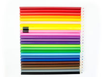Lápis coloridos no fundo branco Imagem de Stock