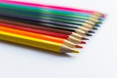 Lápis coloridos no fundo branco Foto de Stock