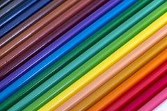 Lápis coloridos para o fundo fotografia de stock