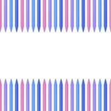 Lápis coloridos, pastéis no fundo branco com lugar para o texto Imagem de Stock