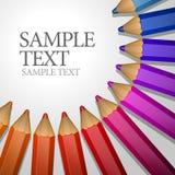 Lápis coloridos que encontram-se ao redor. Imagem de Stock Royalty Free