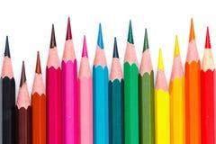 Lápis coloridos, tamanho diferente Imagens de Stock