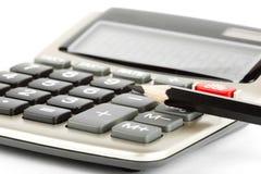 Lápis com calculadora Imagens de Stock Royalty Free