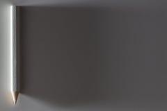 Lápis curto branco Imagem de Stock