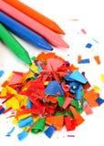 Lápis da cera da cor imagens de stock royalty free
