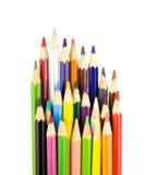 Lápis da coloração isolados no branco Imagens de Stock