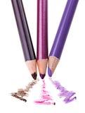 Lápis da composição da sombra de olho com amostra do curso Foto de Stock Royalty Free
