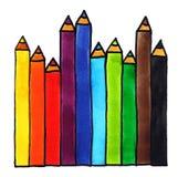 Lápis da cor ilustração royalty free