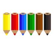 Lápis da cor ajustados ilustração royalty free