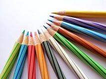 Lápis da cor ajustados imagens de stock