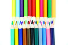 Lápis da cor com fundo branco Fotografia de Stock