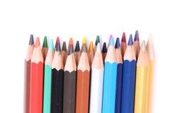 Lápis da cor com fundo branco Imagens de Stock