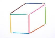 Lápis da cor como a caixa Imagem de Stock Royalty Free