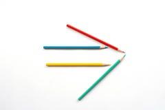 Lápis da cor como a seta Foto de Stock Royalty Free