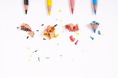 Lápis da cor de Cmyk no fundo branco Fotografia de Stock