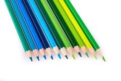 Lápis da cor de vários tons Fotos de Stock