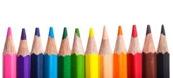 Lápis da cor do arco-íris Imagens de Stock