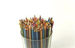 Lápis da cor em um vidro Imagem de Stock Royalty Free