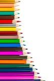 Lápis da cor isolados Foto de Stock Royalty Free