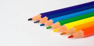 Lápis da cor isolados em um fundo branco fotos de stock