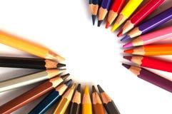 Lápis da cor isolados no branco Imagem de Stock Royalty Free
