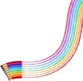 Lápis da cor isolados no branco Eps 10 Imagem de Stock Royalty Free