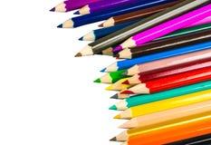 Lápis da cor isolados no fundo branco Imagens de Stock Royalty Free