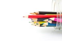 Lápis da cor isolados no fundo branco Fotografia de Stock