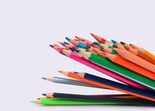 Lápis da cor isolados no fundo branco Fotos de Stock