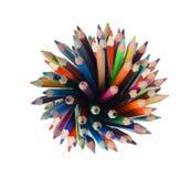 Lápis da cor isolados no fundo branco Fotos de Stock Royalty Free