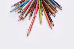 Lápis da cor isolados no fundo branco Foto de Stock