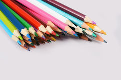 Lápis da cor isolados no fundo branco Imagem de Stock Royalty Free