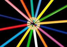 Lápis da cor no círculo Foto de Stock