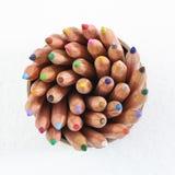 Lápis da cor no copo Imagens de Stock Royalty Free