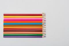Lápis da cor no fim branco do fundo acima Foto de Stock