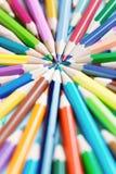 Lápis da cor no fundo branco Fotos de Stock Royalty Free