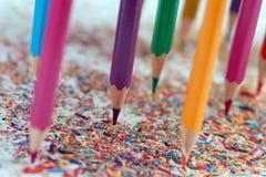 Lápis da cor no fundo branco Imagens de Stock Royalty Free