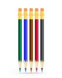 Lápis da cor no fundo branco. ilustração stock