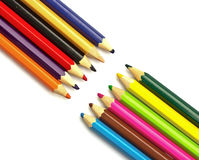 Lápis da cor no fundo branco Fotografia de Stock