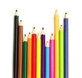 Lápis da cor no fundo branco Foto de Stock