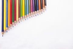 Lápis da cor no fundo branco Foto de Stock Royalty Free