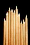 Lápis da cor no fundo preto Fotografia de Stock