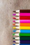 Lápis da cor no papel do ofício Foto de Stock