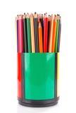 Lápis da cor no suporte imagens de stock royalty free