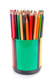 Lápis da cor no suporte fotografia de stock royalty free