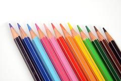 Lápis da cor para o artista no fundo branco Imagens de Stock Royalty Free