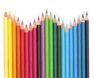 Lápis da cor sobre o branco Fotografia de Stock Royalty Free